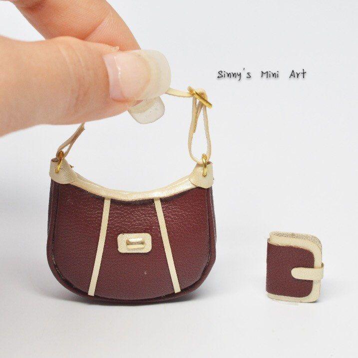 1 6 Barbie Purse Miniature Handbag Doll Dollhouse Miniatures