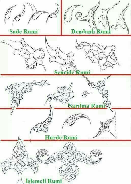 Pin de Duygu Yüksel en Desen Rumi Selçuklu Cini Minyatür Tezhib ...