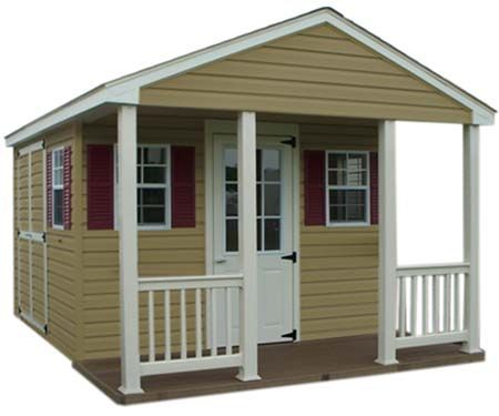 10 X 10 Cabin Shed With Vinyl Siding Vinyl Siding Shed Contemporary Sheds