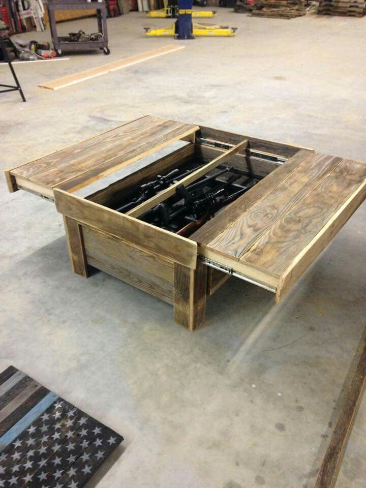 Hidden Gun Storage Coffee Table Jeff Pinterest