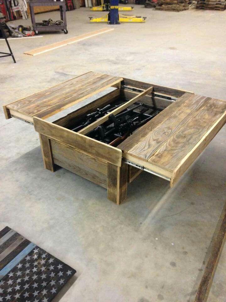 Hidden gun storage coffee table & Hidden gun storage coffee table | Just too cool | Pinterest | Hidden ...