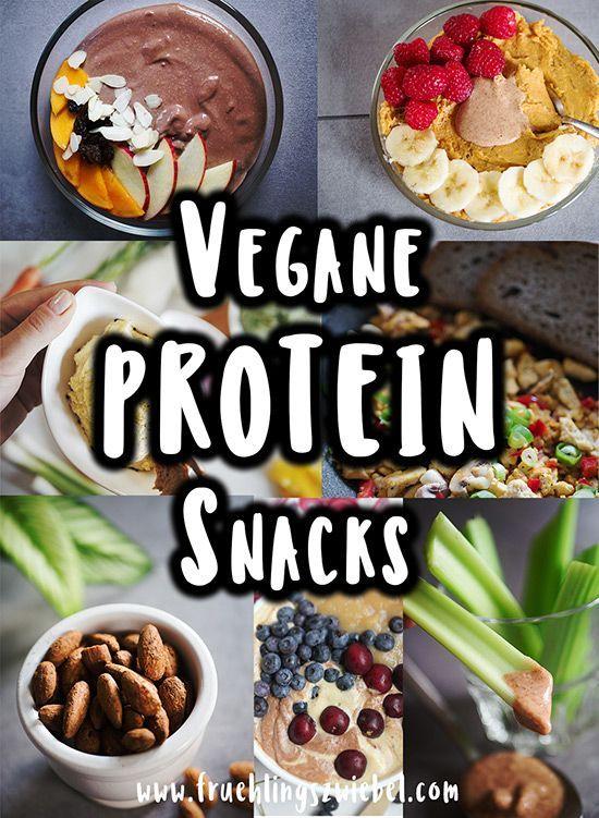 15 vegan protein snacks - at least 10g protein   - Fruehlingszwiebel.com | Fitness Rezepte | Motivat...