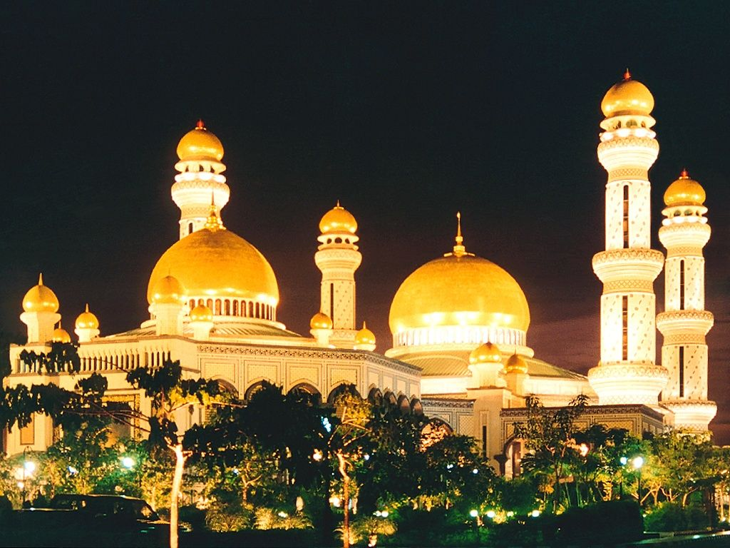 Masjid New Zealand Pinterest: Waqif Mosque Night Time