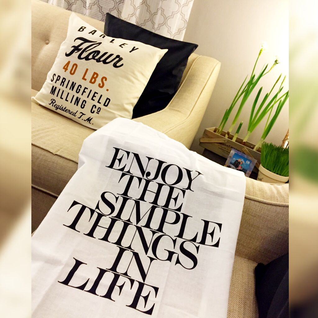 Enjoy The Simple Things In Life Throw Pillows Reusable Tote Reusable Tote Bags