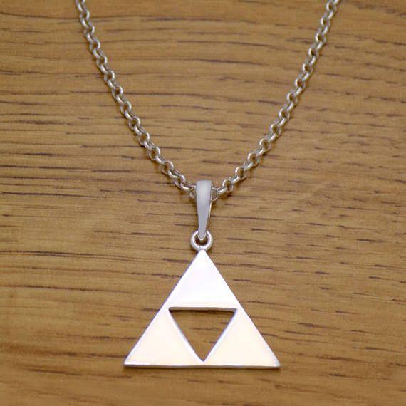 Impressive Solid 925 Sterling Silver Legend Of Zelda Triforce