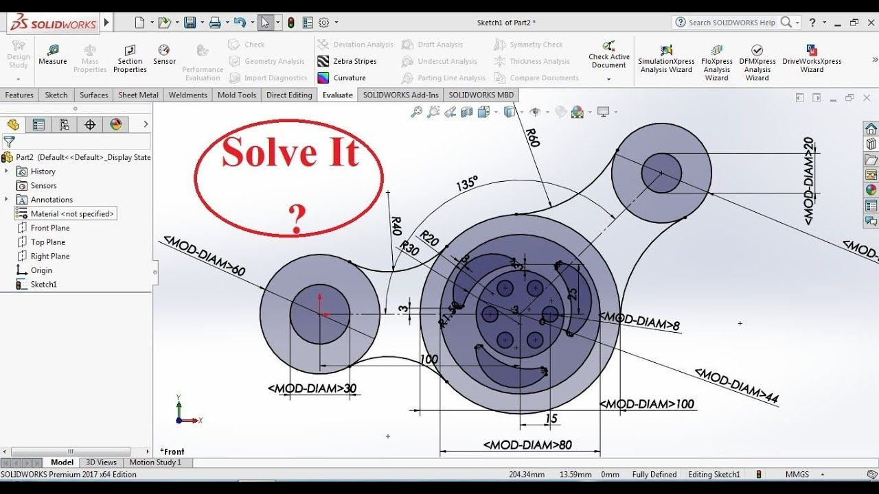 Sketch In Solidworks Youtube Solidworks Solving