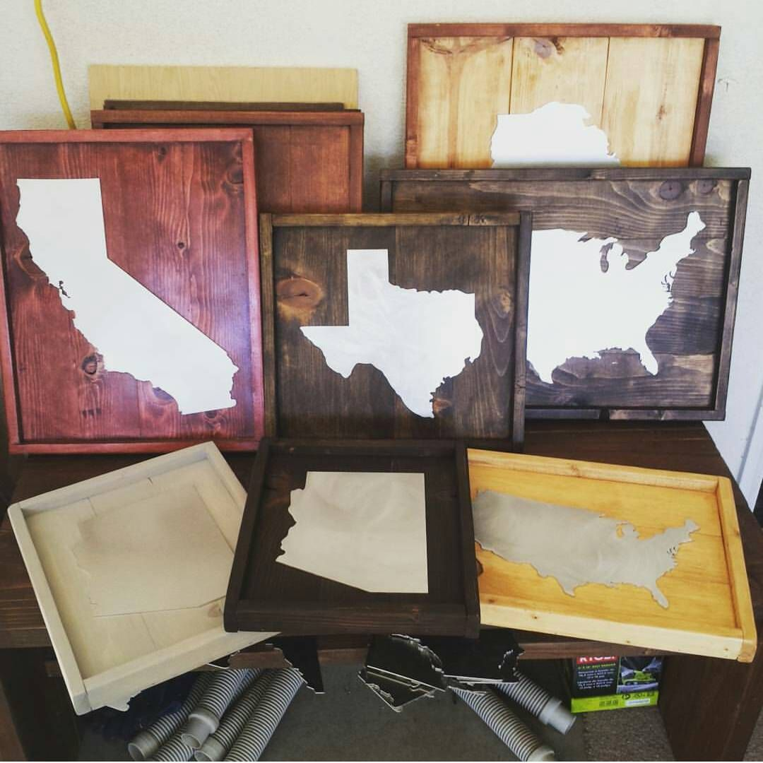 All states now available raw metal decor pinterest laser