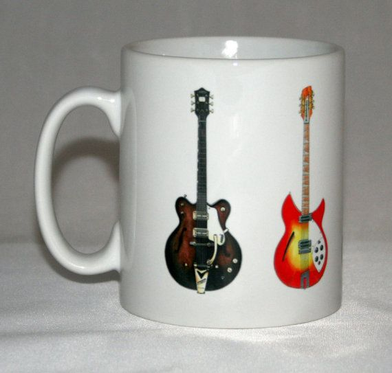 5 Famous Guitars Mug-The Beatles by Inthegiftroom on Etsy