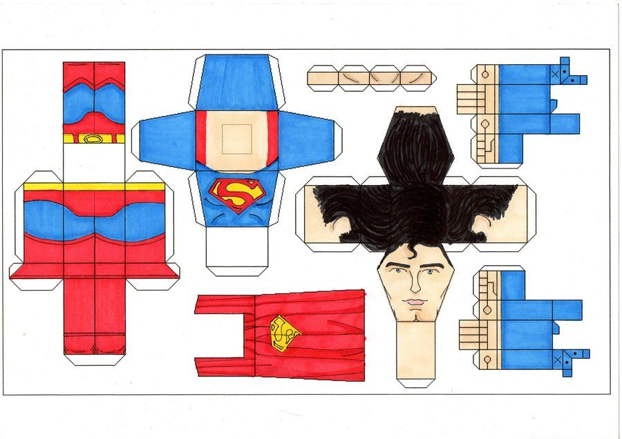 image detail for superman 78 paper toy template by ditch