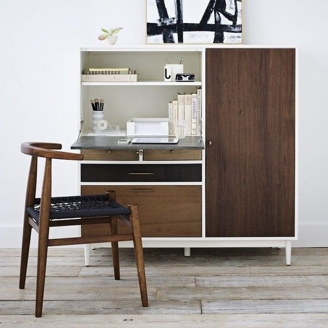 mid century modern secretary desk danish rosewood small