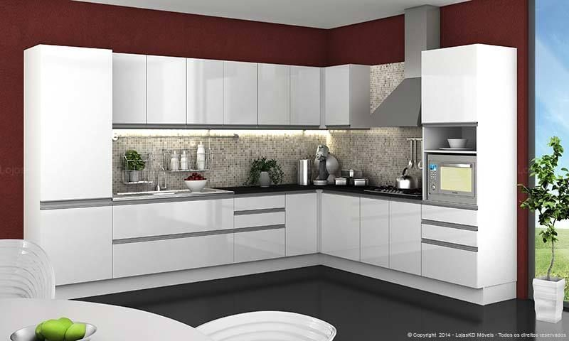 Decoracao Cozinha Compacta Cozinha Com Parede Vinho E Armario