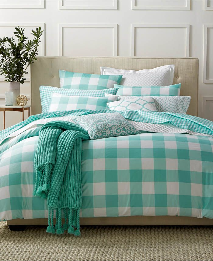 Best Gingham Teal Bedding Collection Teal Bedding Teal 400 x 300