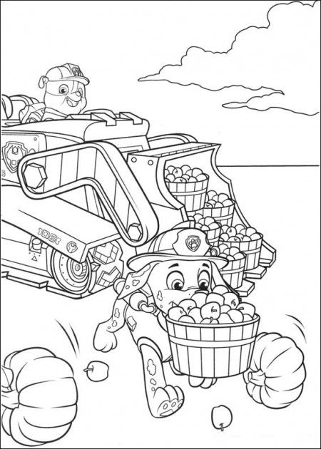 Paw Patrol Coloring Pages Collecting Apples Paw Patrol Coloring Pages Paw Patrol Coloring Coloring Books