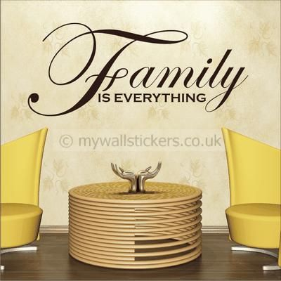 Family is everything wall quote art sticker by my wall stickers weve hundreds of wall stickers for you to choose from in our online store buy online for