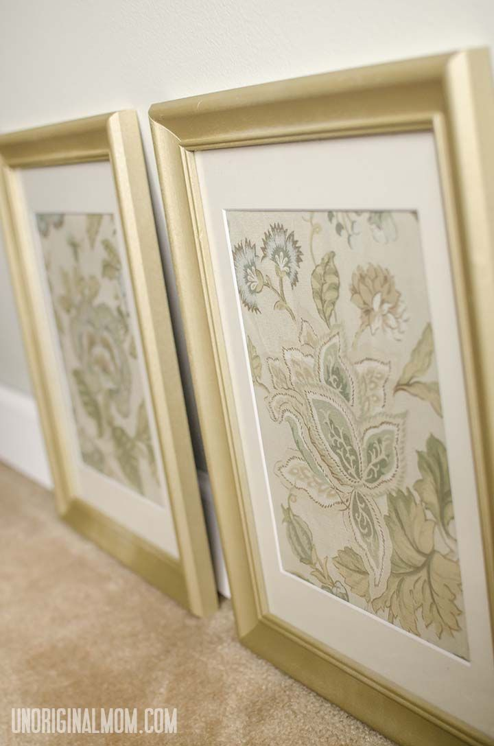 Marvelous Use Cloth Napkins And Secondhand Frames To Create Inexpensive Wall Art    Perfect For Staging A