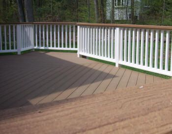 Deck Railing Wood Stain Horizontal White Paint Vertical