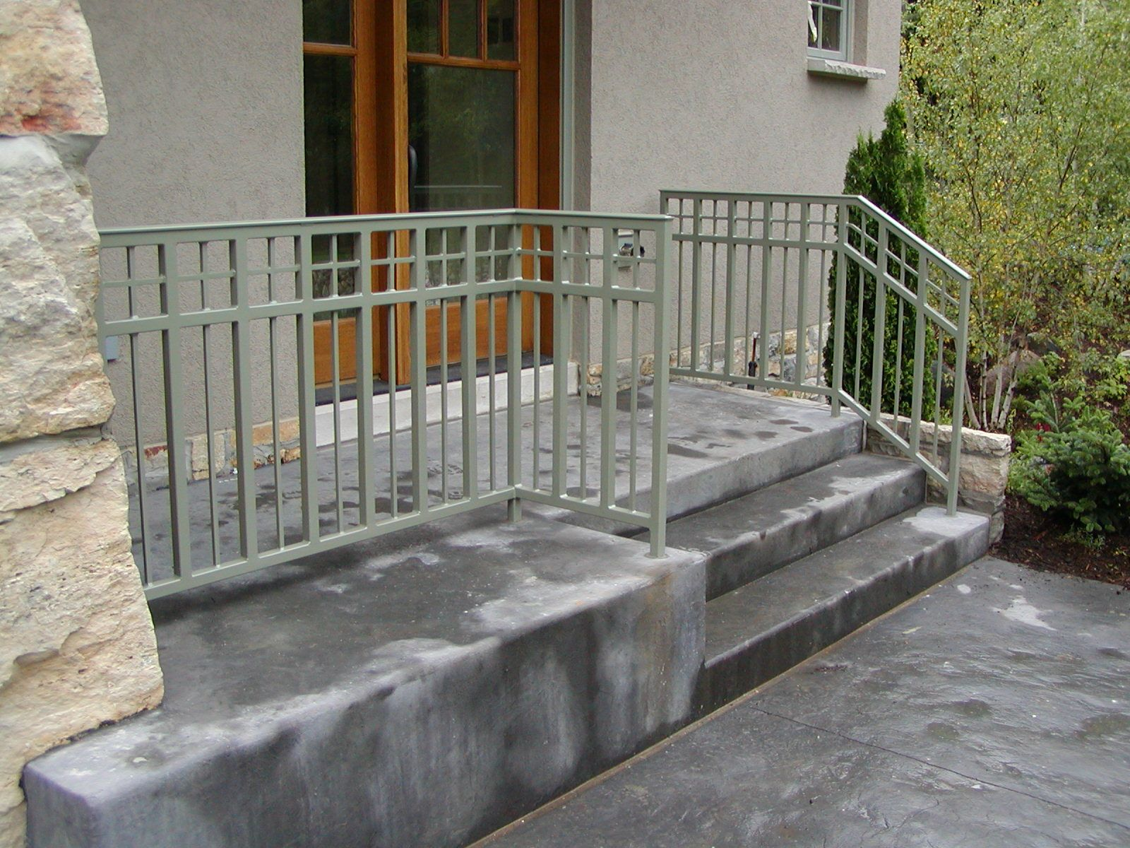 Iron Step And Porch Railing