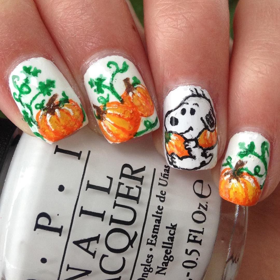 Pumpkin Nails - Pumpkin Nail Art for Halloween and Thanksgiving Easy ...