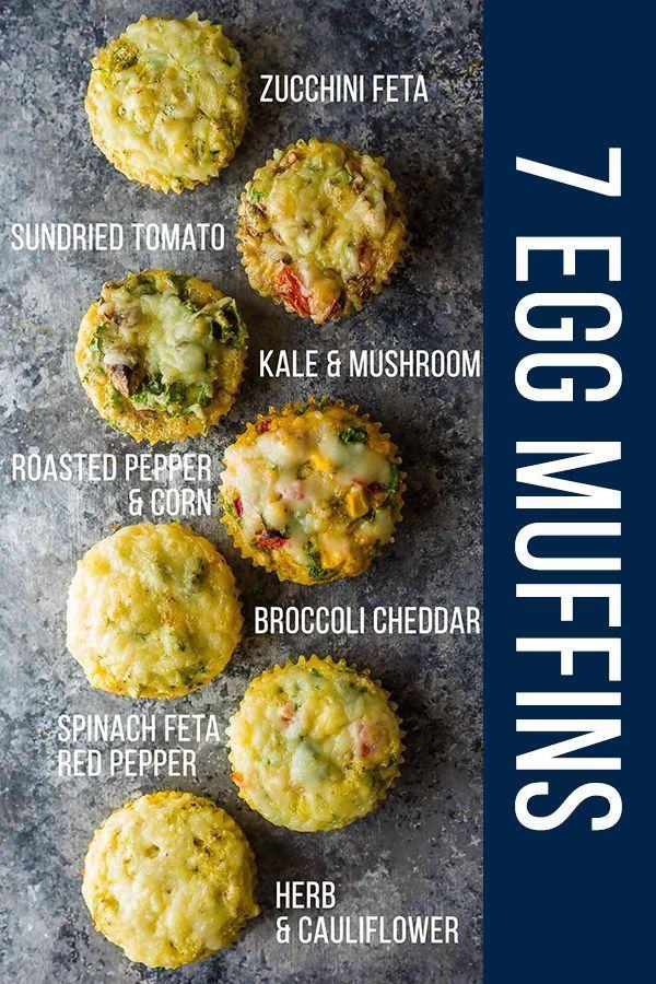7 Healthy Breakfast Egg Muffins (Freezer) | sweetpeasandsaffron.com