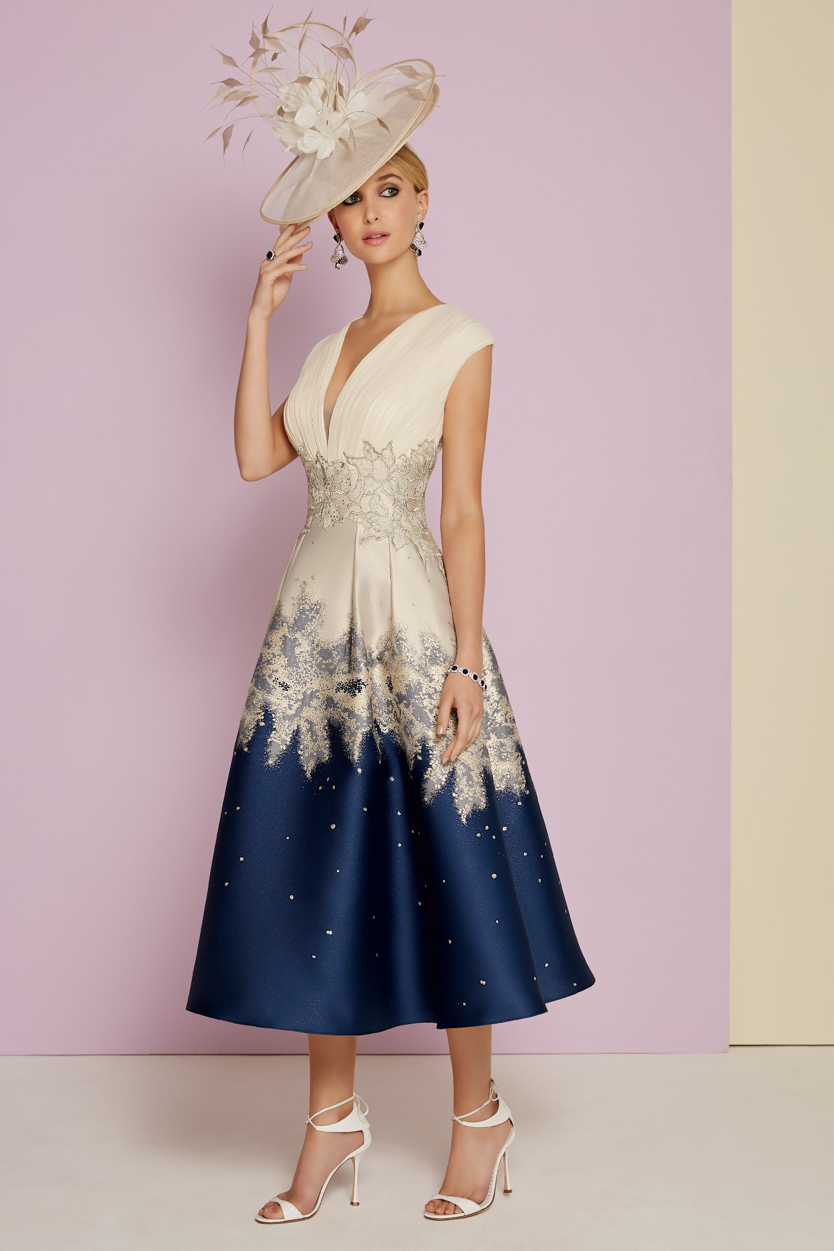 Elegant Embroidery Bridesmaid's Gown Tulle Floral Wedding Costume Lace Fabric 1Y