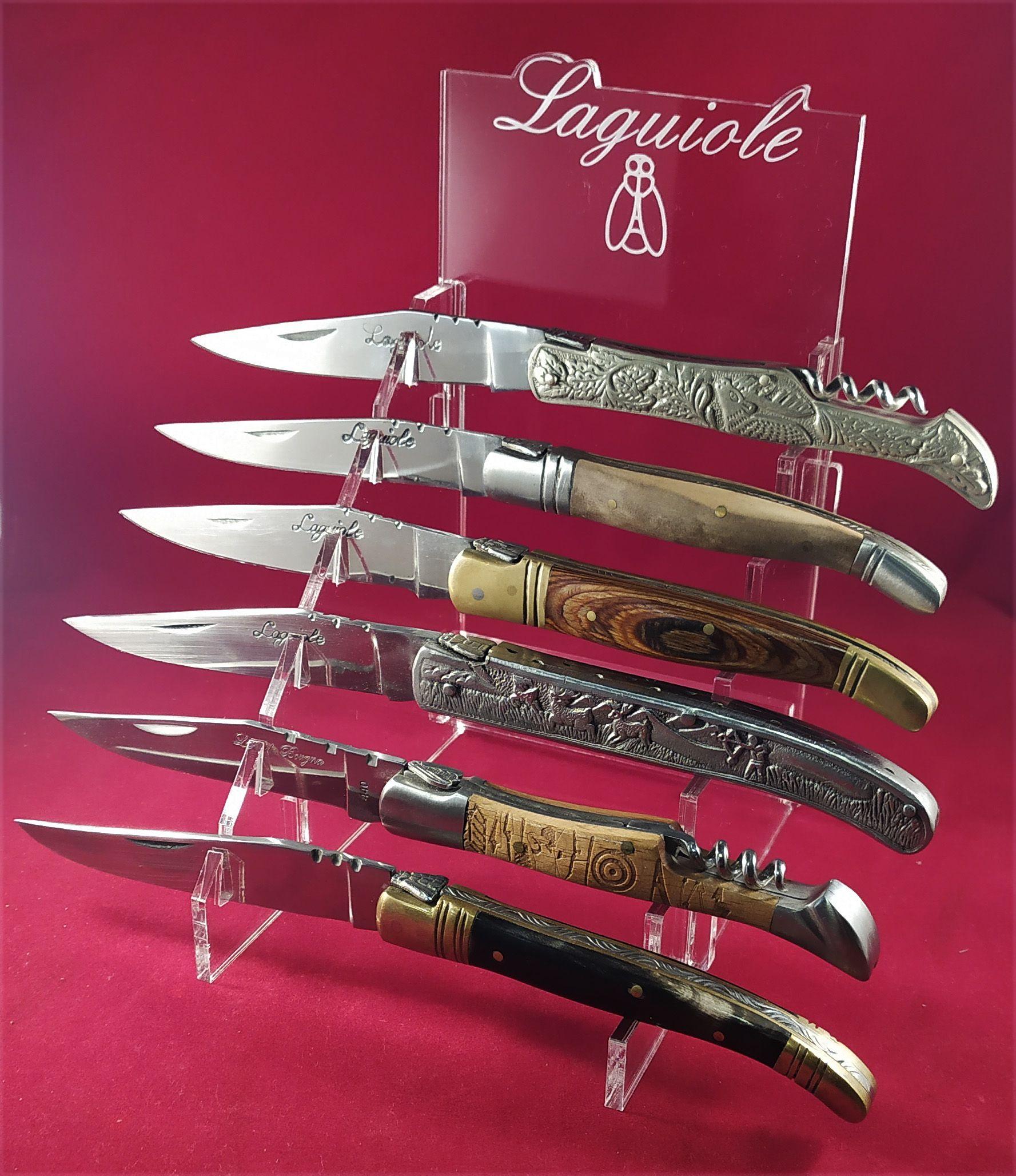 Presentoir En Plexi Incolore Pour 6 Laguioles Excellent Rendu Dans Une Vitrine Disponible De Suite Ref C6l Couteau Laguiole Presentoir Et Artisan Coutelier
