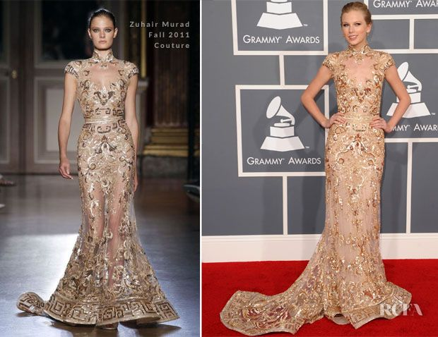Taylor Swift In Zuhair Murad Couture – 2012 Grammy Awards  I love this dress just don't know if I love it on her