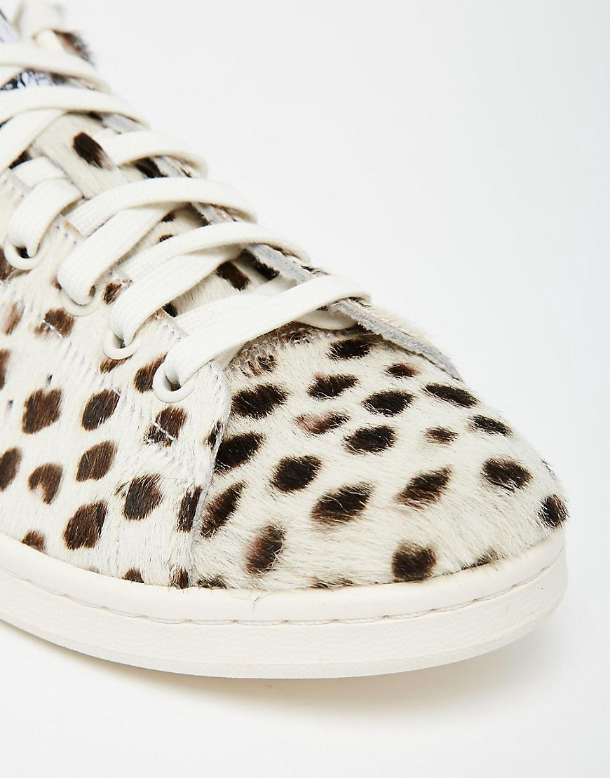 ab9aaa9ba7cc03 Image 2 of adidas Originals Cheetah Print Pony Stan Smith Trainers ...