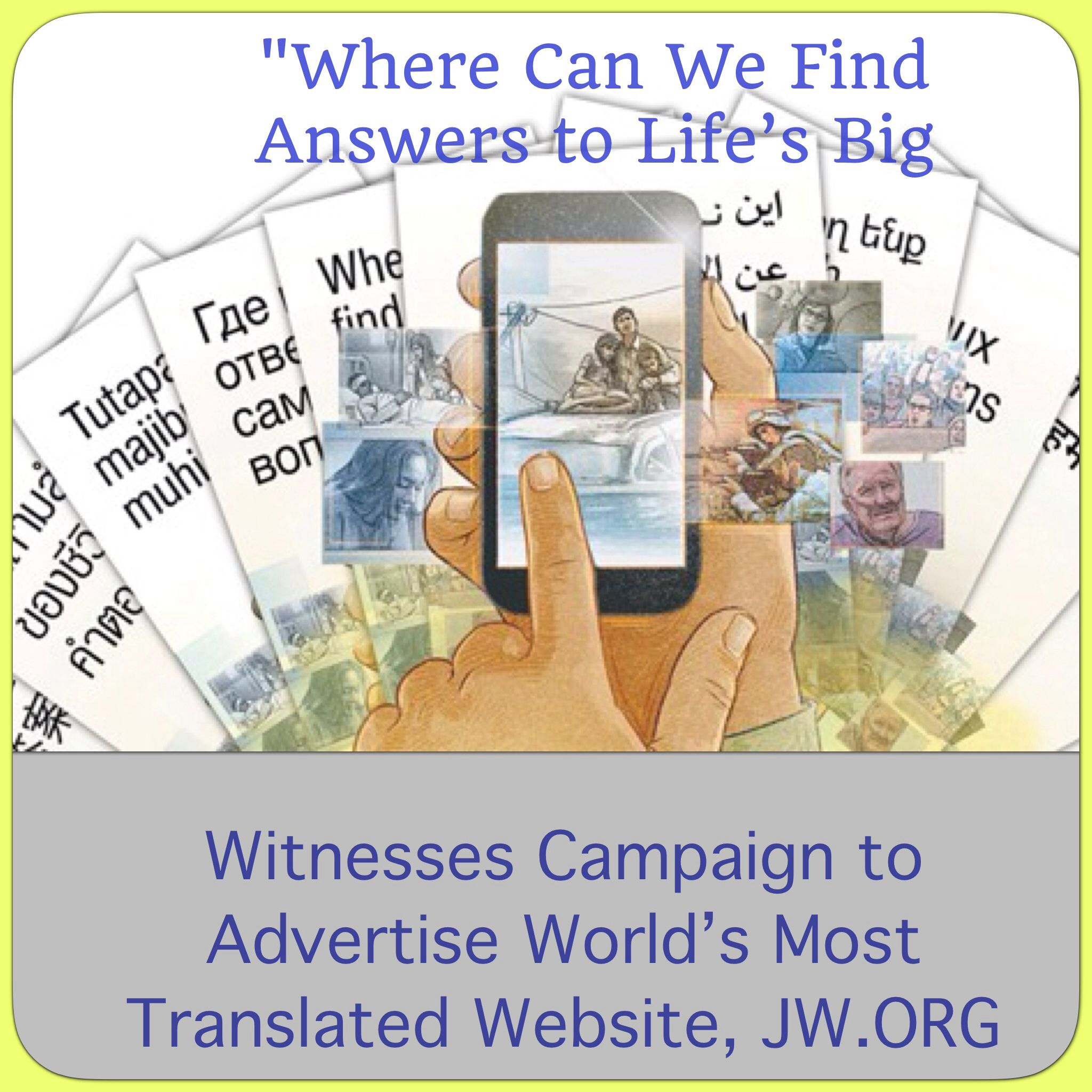 Witnesses Campaign to Advertise World's Most Translated