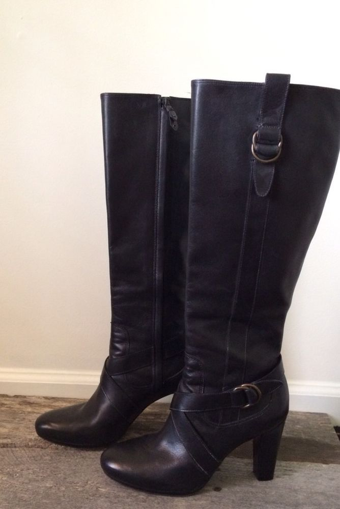 Cole haan · EUC COLE HAAN NIKE AIR CARA TALL LEATHER BOOTS SIZE 7.5 B WOMENS  SHOE $498 BLACK