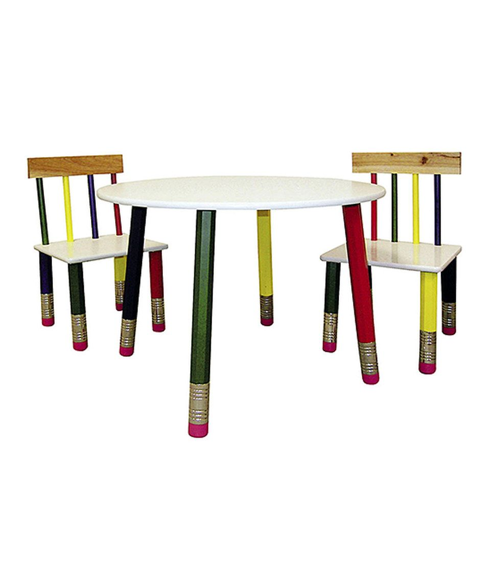 Loving this Green u0026 Yellow Pencil Table u0026 Chair Set on #zulily! #zulilyfinds  sc 1 st  Pinterest & Loving this Green u0026 Yellow Pencil Table u0026 Chair Set on #zulily ...