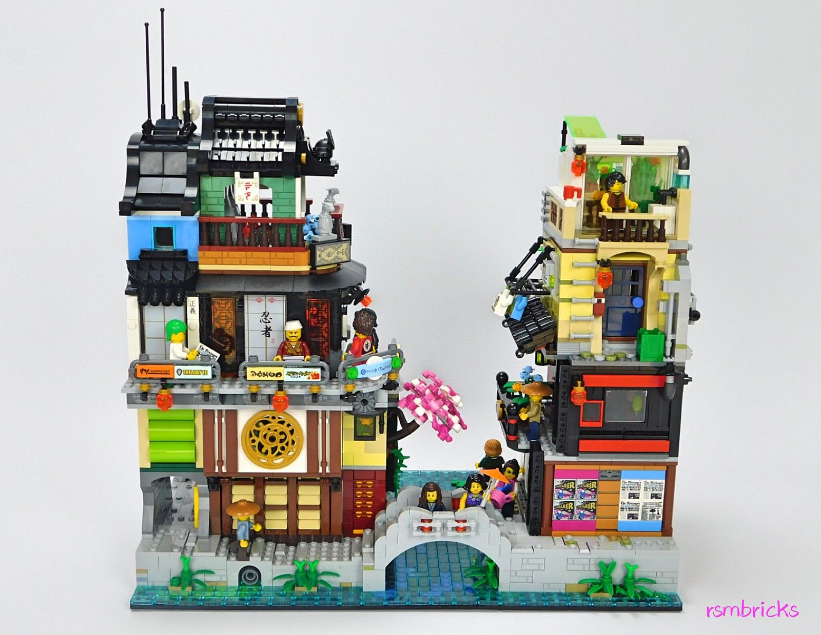 Ninjago City The Suburbs An Extension To Lego Set 70657 Ninjago City Docks Lego Ninjago City Lego Projects Cool Lego Creations