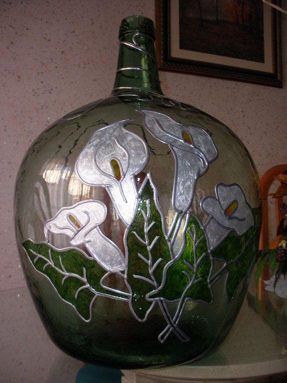 Reciclando hoy botellas de vidrio botellas decoradas - Decorar botellas de cristal ...