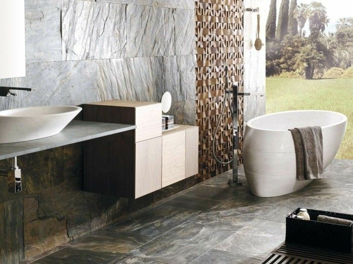 Badezimmer Natur ~ Badezimmer einrichten badewannen naturstein badewanne badezimmer