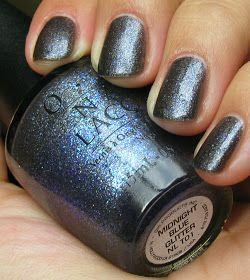opi  midnight blue glitter  blue nails nails tiffany