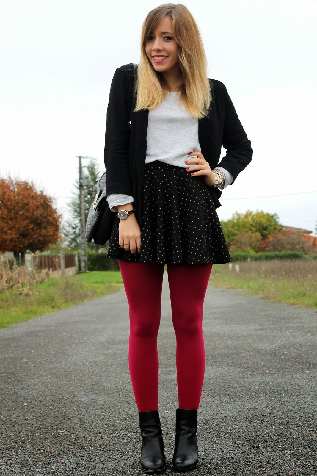 15a65f8b428a Red tights fashion outfit  fashionblogger