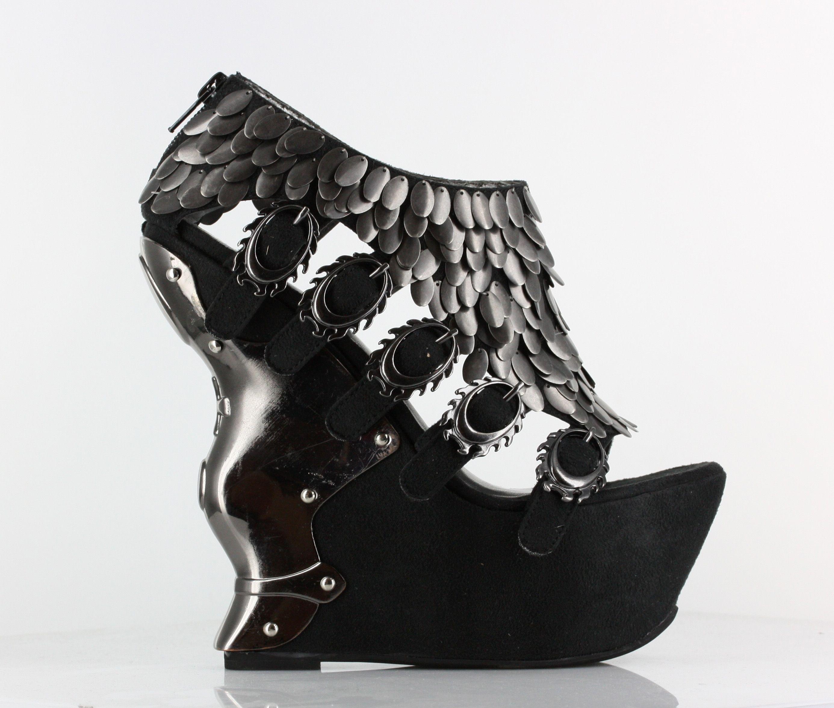 Hades Monique Platform Booties with Open Toe - Black - Heels