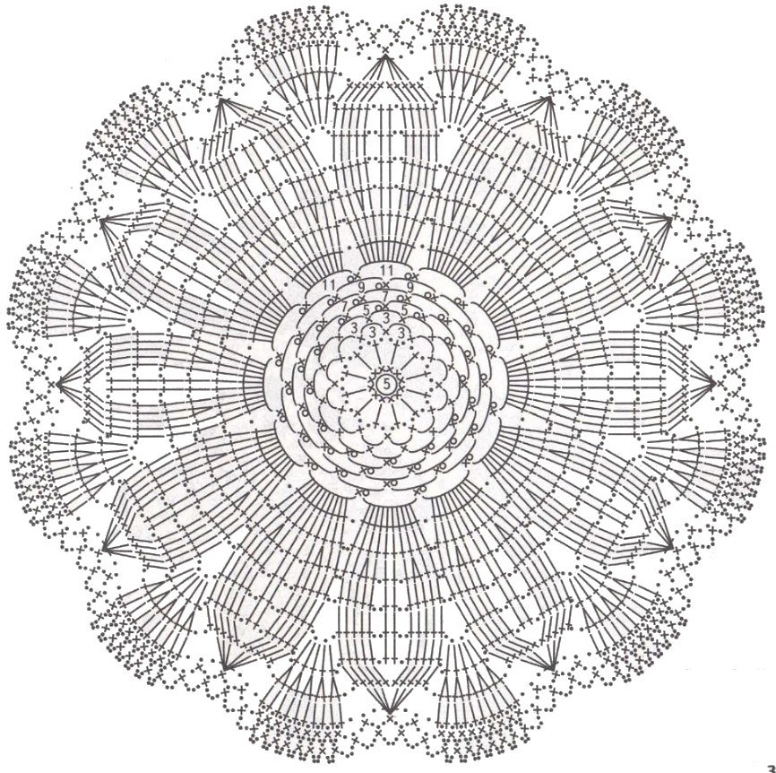 Картинки салфетки крючком со схемами