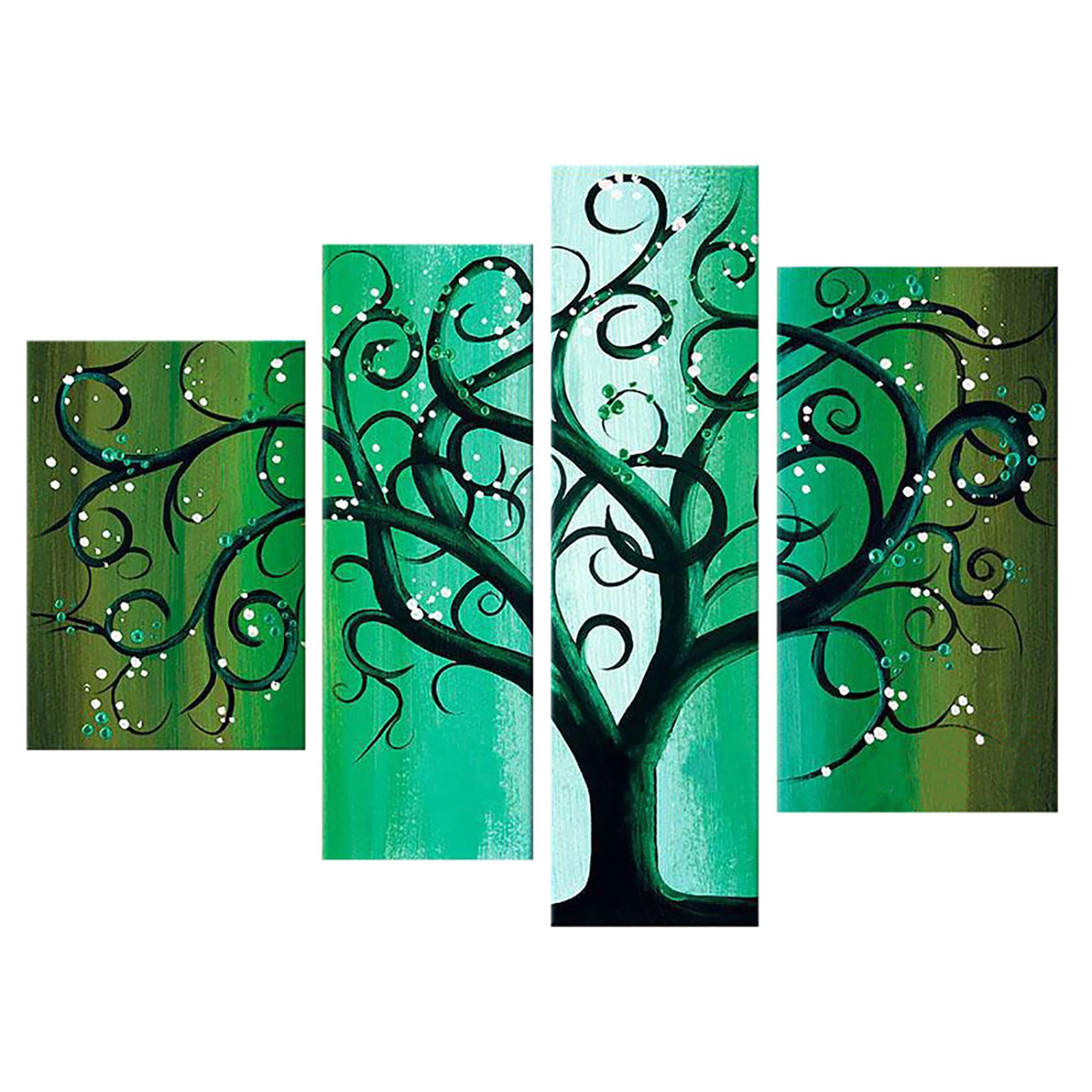 This exquisite Green Contemporary Tree Landscape Canvas Wall Art