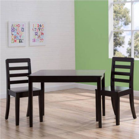Delta Children Gateway Table and 2 Chairs Set, White & Grey