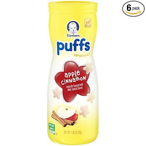 Amazon: 6 Count Gerber Graduates Puffs Cereal Snack, Apple
