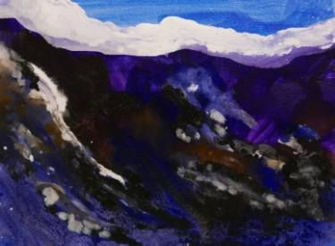 "Saatchi Art Artist john hacking; Painting, ""purple mountain"" #art"