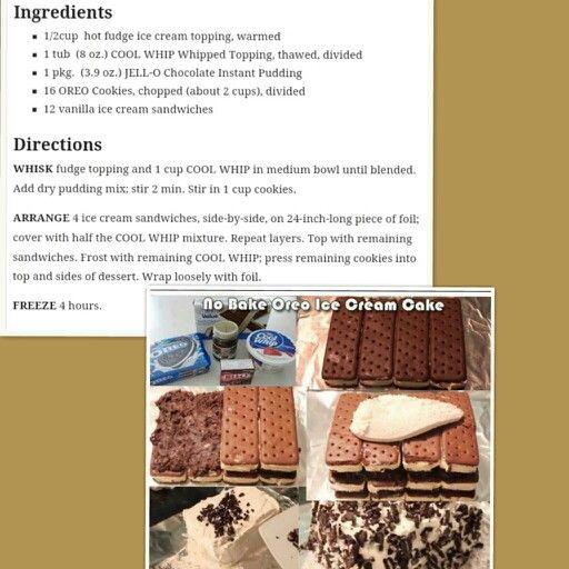 No bake oreo ice cream cake recipe