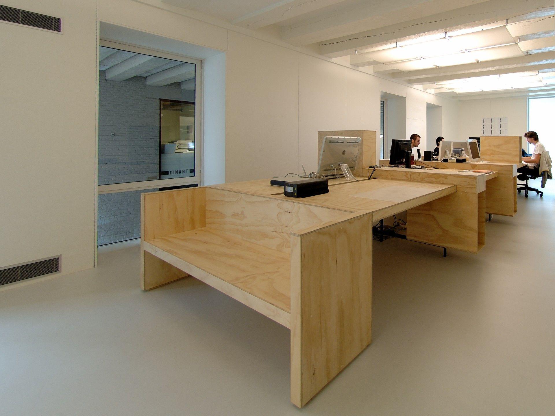 Kantoorinrichting Van Hypernuit : I29 interior architects office 01 1 5 o.s.b plywood