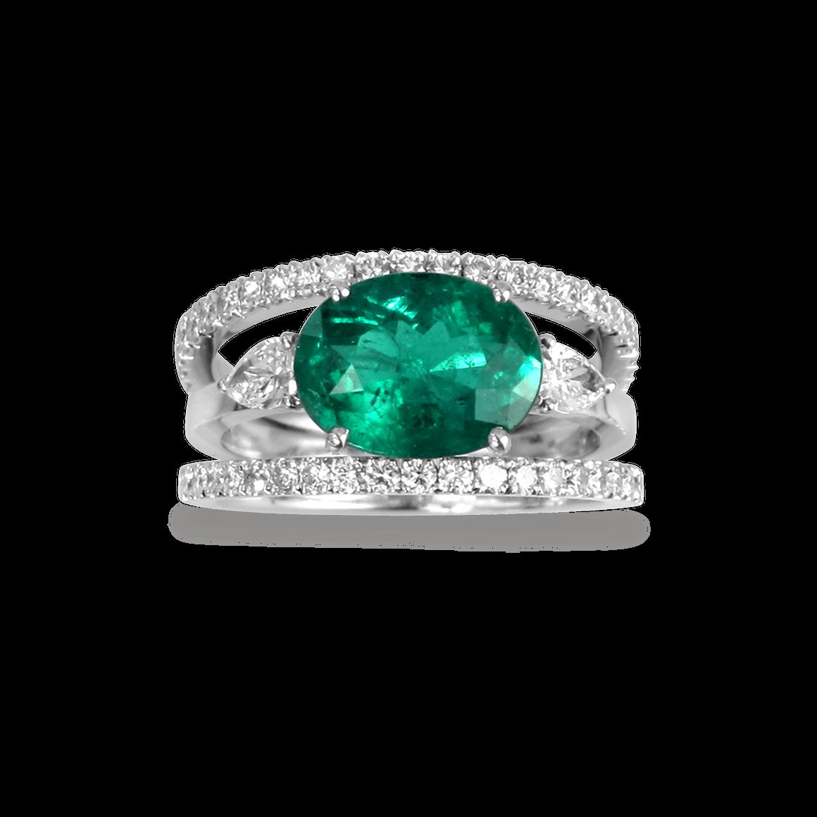 Célèbre bague emeraude poire diamants | Bagues | Pinterest | Bague  QH05