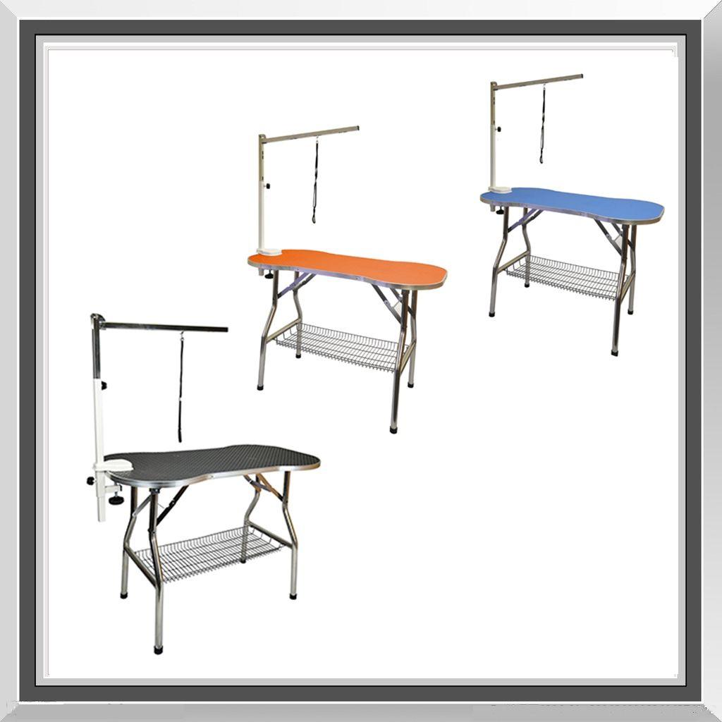 Pet Grooming Table Dog Grooming Table Grooming Table Foldable Grooming Table Large Stainless Steel Bone Shape Non Slip No Slip My Dogs Flying Pig Table Foldable Table