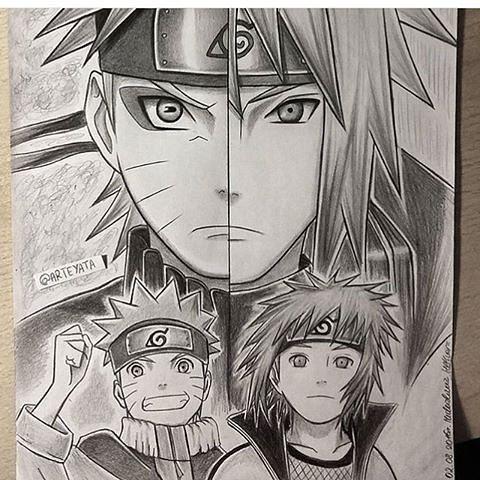 Naruto And Minato Naruto Minato Naruto Vs Sasuke Dessin Naruto