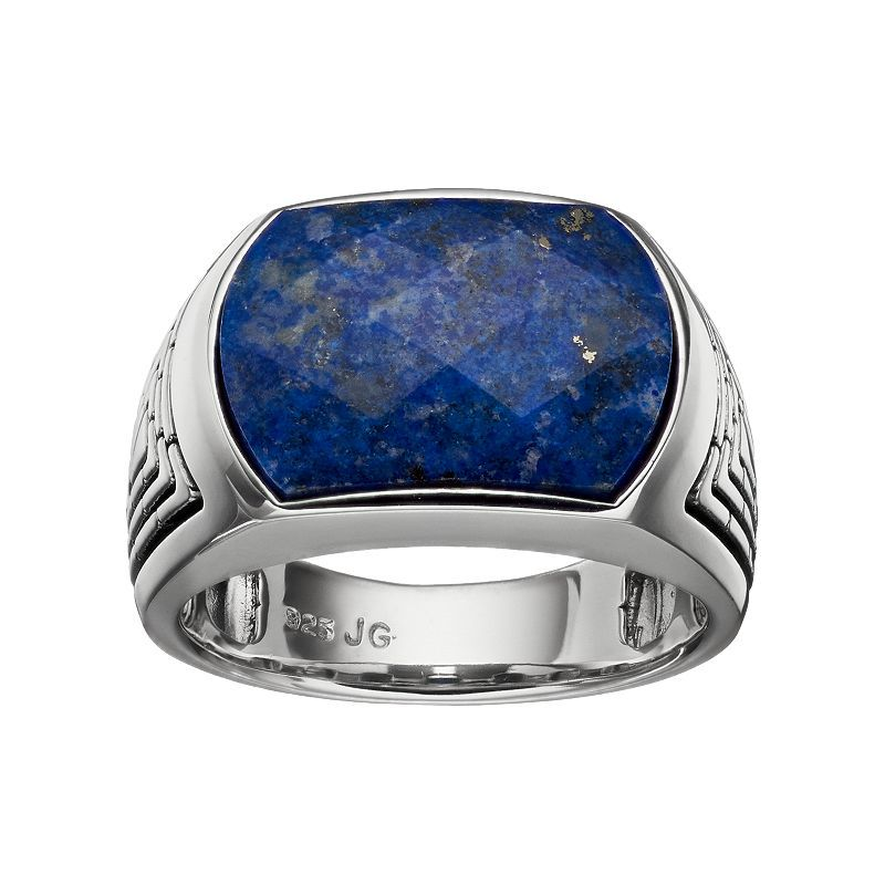Mens lapis lazuli sterling silver ring size rings for