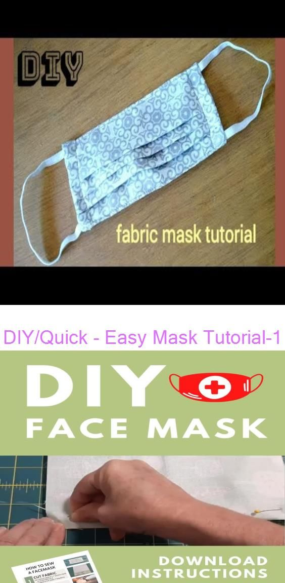 Photo of diy face mask sewing pattern