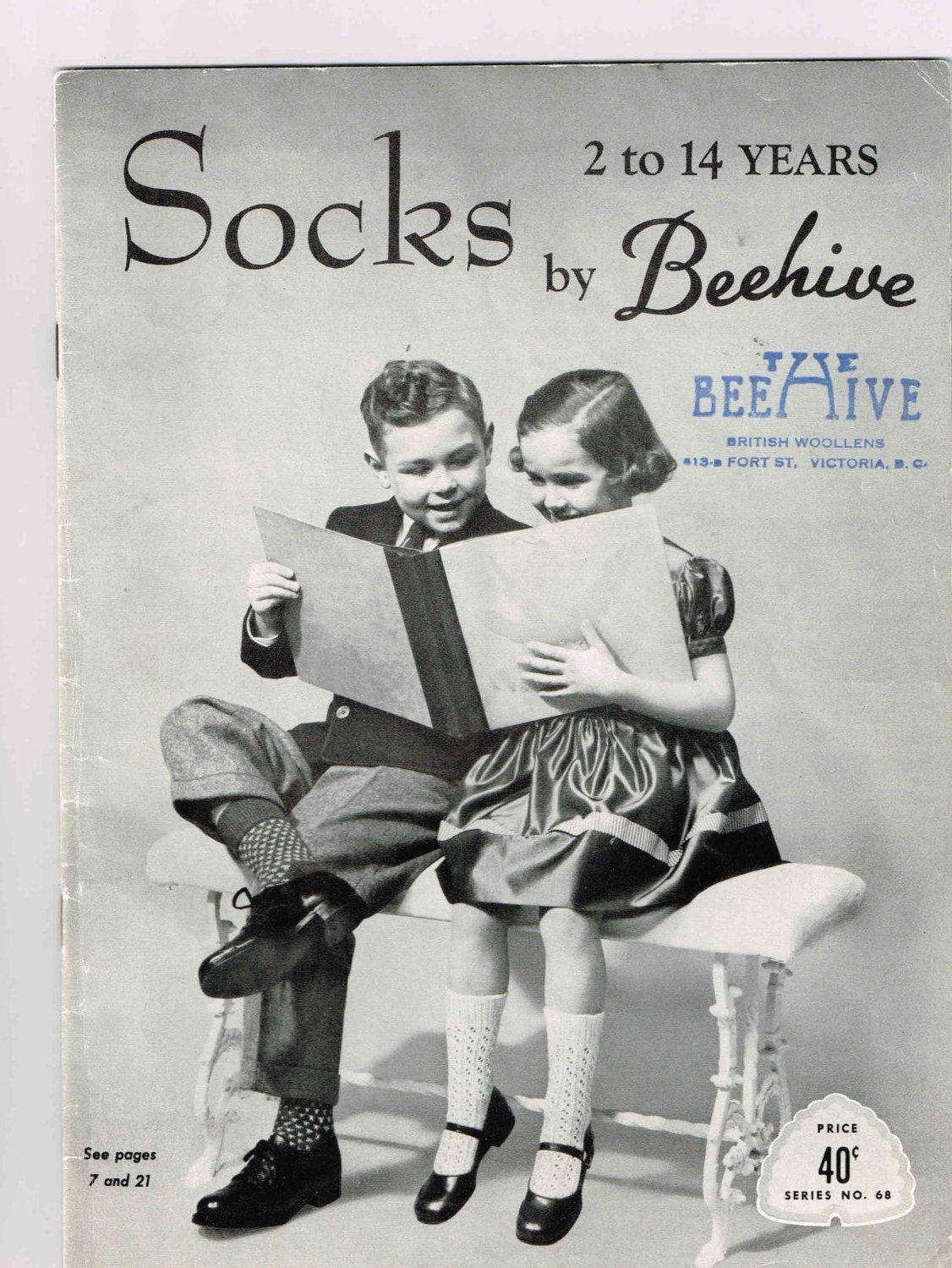 Vintage Socks 2 To 14 Years By Beehive Knitting Pattern Book Series