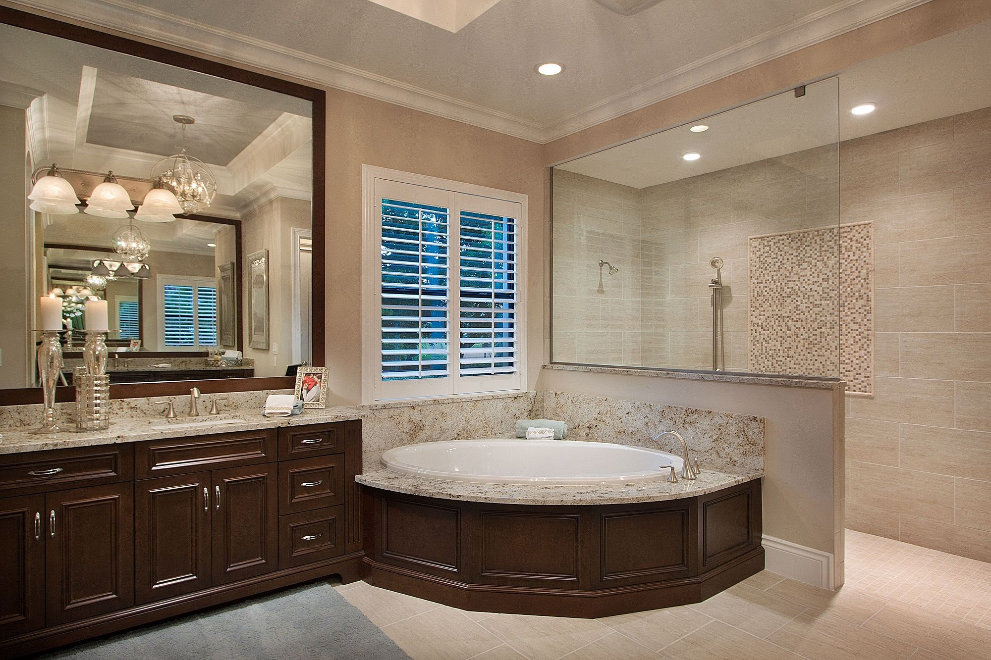 Master bathroom at emerald homes mirabella model at - Interior designers bonita springs fl ...